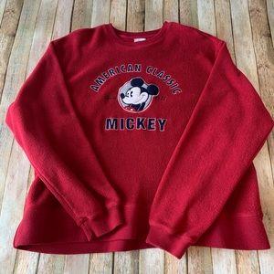 Disney fleece Micky Mouse Crewneck pullover